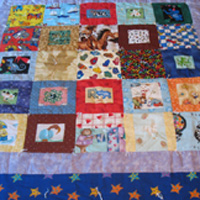Moon and Stars Patchwork Baby Quilt
