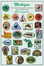 Michigan Turkey Patch Poster