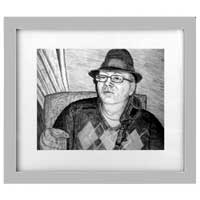 Framed Portrait Drawing