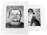 Matted Portrait Drawing