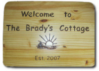 Personalized Wood Burned Sign