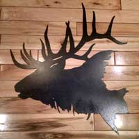 Elk Head Silhouette Wall Art