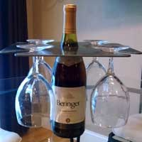 Metal Wine Rack and Wine Glass Holder