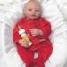 Handcrafted Awake Blonde Hair Baby Boy Reborn Doll