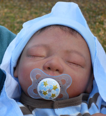 Sleeping Baby Boy Reborn Doll