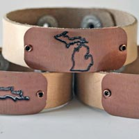 Michigan Leather Bracelets