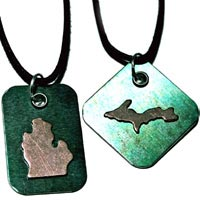 Michigan Metal Pendants