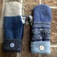Repurposed Wool Mittens