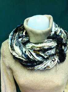 Brown Beige Plaid Scarf by Scarves of Westwood