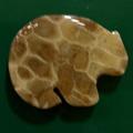 Petoskey Stone Bear Shape Magnet
