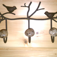 Petoskey Stone Coat Hook Rack