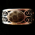 Petoskey Stone Wide Cuff Bracelet
