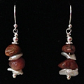 Agate & Pearl Earrings