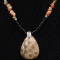 Petoskey Stone & Agate Necklace