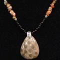 Petoskey Stone & Agate Necklace