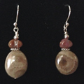 Petoskey Stone & Agate Earrings