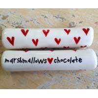 Marshmallows Love Chocolate Campfire Roasting Stick