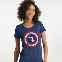 Captain Michigan Women's TShirt