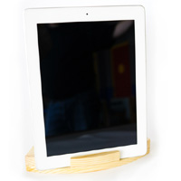Wood iPad Stand iPad in Vertical Position