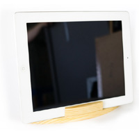 Wood iPad Stand - iPad in Horizontal Position