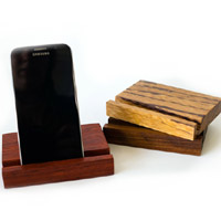 Wood Phone Stand - Phone in Vertical Position