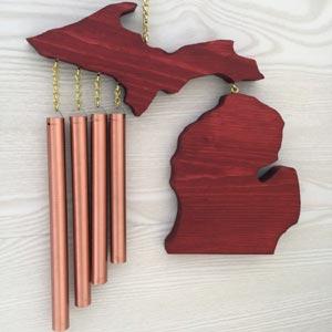 Michigan Wind Chime Cedar Red