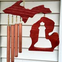 Michigan Wind Chime with Lighthouse