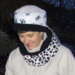 Puppy Paw/Dalmatian Scarf & Hat by Turtle Gloves