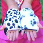 Children's Reversible Fingerless Gloves