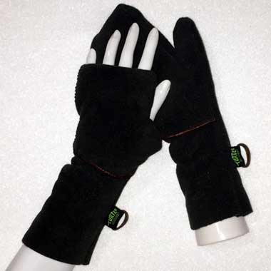 Turtle Flip Weather Protect Heavy Mittens shown in Deep Woods Green