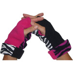 Ladies Reversible Fingerless Gloves