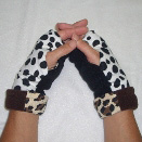 Ladies Cheetah/Dalmatian Reversible Fingerless Gloves by Turtle Gloves®
