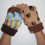 Horse & Hound Reversible Fingerless Gloves by Turtle Gloves®