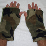 Camo Seasons Reversible Fingerless Gloves by Turtle Gloves