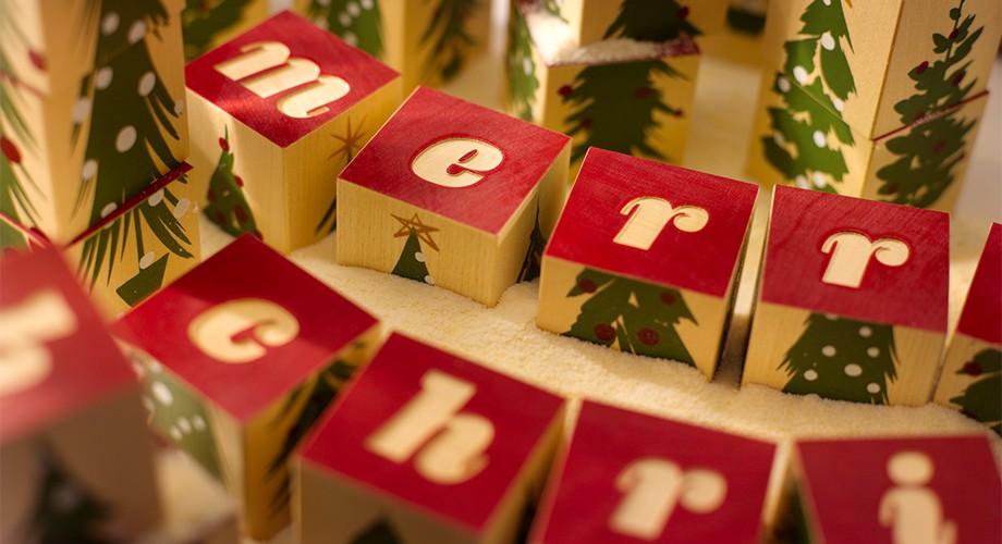 Merry Christmas Blocks | Uncle Goose Wooden Blocks