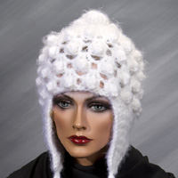 White Hat with Ear Flaps