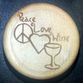 WineO Wine Stopper - Peace Love Wine