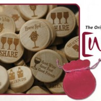 Wine Stoppers with Engraved Messages
