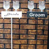 Bride Groom Beverage Holders