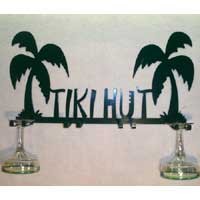 Tiki Hut Wine Glass Holder