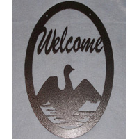 Welcome Sign with Goose