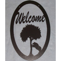 Welcome Sign with Bear