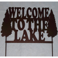 Welcome to the Lake Yard Sign