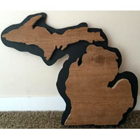 Made In Michigan Sign