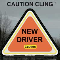 New Driver Caution Clings