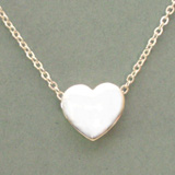 Puffed Heart Slide Necklace