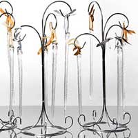 Blown Glass Icicle Ornaments
