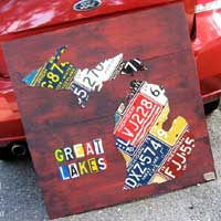 License Plate Art by Design Turnpike