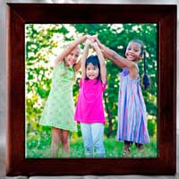 Framed Tile with Custom Photo