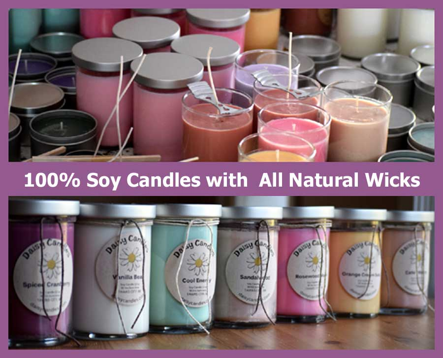 100% Soy Candles with All Natural Wicks